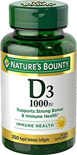 Vitamin D3 by Nature's Bounty for immune support. Vitamin D3 provides immune support and promotes healthy bones. 1000IU, 3...