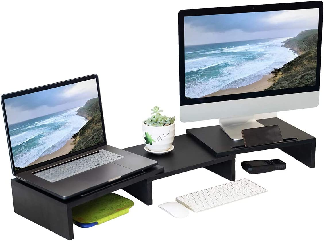 Dual store Monitor Stand Riser with 3 Adjus Shelf Same day shipping