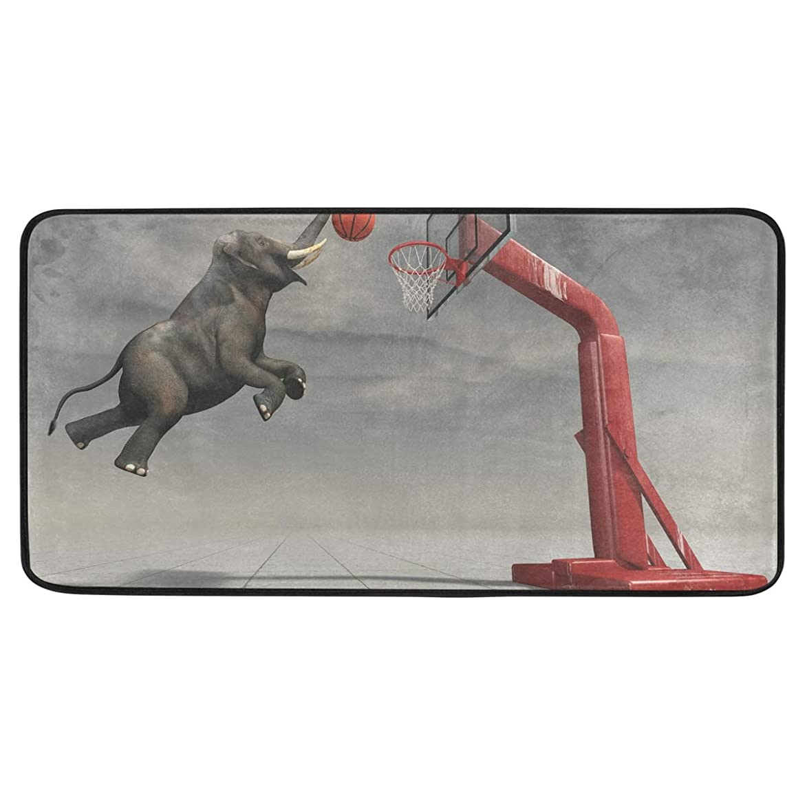 ALAZA Basketball Standing Mat Kitchen Rug Mat, Anti Fatigue Comfort Flooring, Commercial Grade Pads, Waterproof, Ergonomic Floor Pad, Rugs for Office Stand Up Desk, 39x20in oti107604909754
