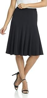 Women's Ease into Comfort Flared Knee Length Knit Skirt