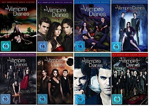 The Vampire Diaries Staffel 1-8 (1+2+3+4+5+6+7+8) [DVD Set] Die komplette Serie