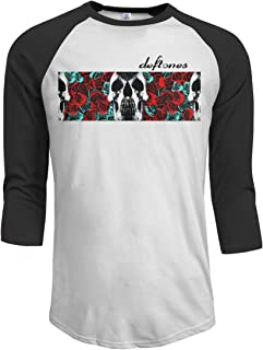 JeremiahR Deftones Men's 3/4 Sleeve Raglan Baseball Tshirt Black