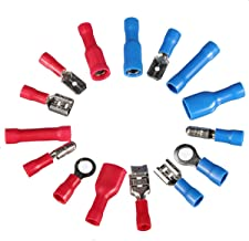 COMPANY LILI 200pcs Insulated Assorted Electrical Wire Terminal Crimp Connector Spade Set Tube