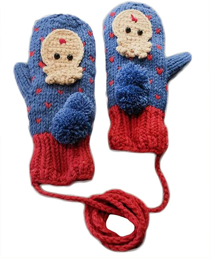 Winter Mittens For Women Cute Christmas Knit Mitten Windproof Warm Fluffy Glove Cycling Running Work Cold Weather