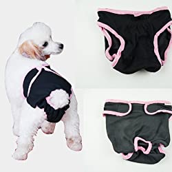S-Lifeeling Dog Female Diapers Puppy Protectve Protectors Pants Puppy Large/Small