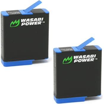 Wasabi Power Battery (2-Pack) for GoPro HERO8 Black (All Features Available), HERO7 Black, HERO6 Black, HERO5 Black, Hero 2018