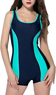Women's One Piece Swimsuits Boyleg Sports Swimwear