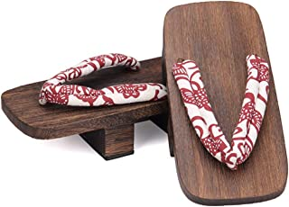 Without logo ZCPCS Coshome Cosplay Geta Clogs Slippers Japanese Wooden Shoes Men Women Sandals (Color : M, Shoes Size : 39)