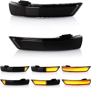 Black SYWAN EIN Paar Dynamische LED Blinker Licht Seitenspiegel Flie/ßende Anzeige f/ür Ford Focus 2008-2016