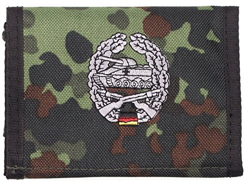 portefeuille, nylon, BW camo, w/ins., logo , Couleur:flecktarn/Panzergrenadier