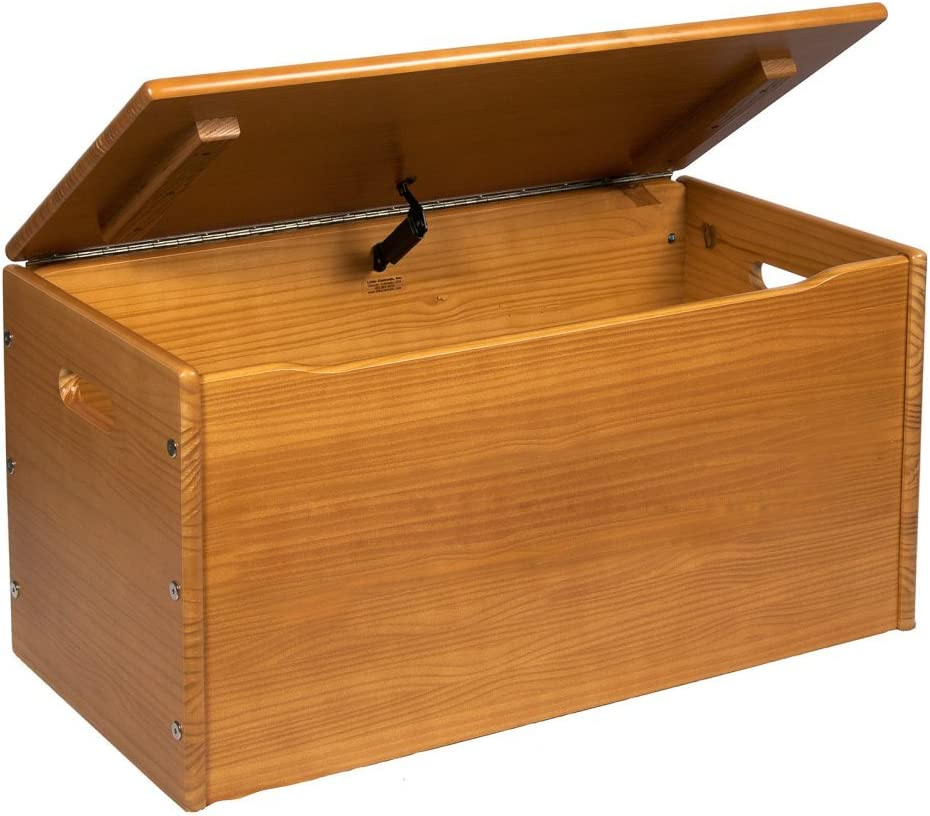 Amazon Com Little Colorado Solid Wood Toy Storage Chest Furniture Decor