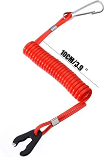 Plastec Red Boat Motor Kill Stop Switch Key Rope Safety Lanyard Tether For Yamaha Outboard For Honda Cut Off Switches