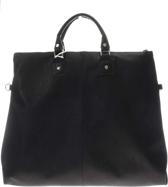 Paola T. Sac Shopping en simili cuir toile femme Noir