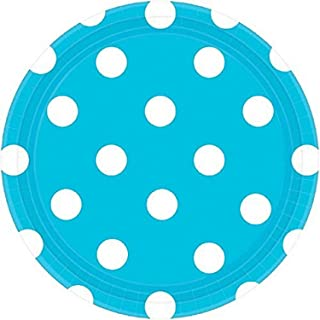 Dots 17cm Round Plate Caribbean Blue