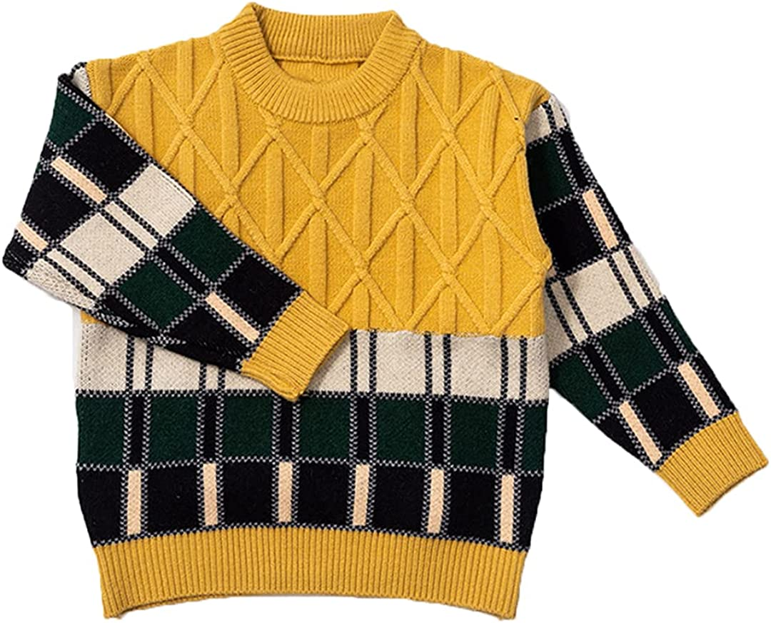 HEYDHSDC 2021 Baby Boys Sweater Autumn Winter Children Knitted Pullover Toddler Sweater