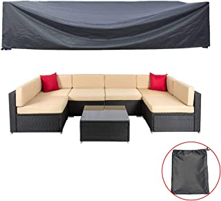 AKEfit Patio Cover,Patio Furniture Set Covers Waterproof Outdoor Furniture Lounge Porch Sofa Waterproof Dust Proof Protective