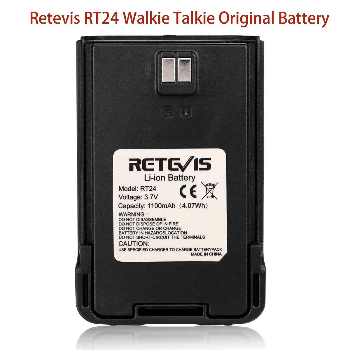 1 Pieza Retevis BL45 Walkie Talkie Bater/ía Recargables de Iones de Litio de 3.7V 1000mAh Compatible con Retevis RT628 RT45 RT46 Walkie Talkies