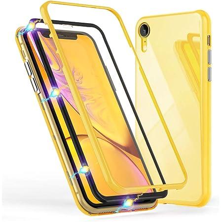 NALIA 360° Custodia in Vetro compatibile con iPhone XR, Magnetica Cover Integrale Fronte & Retro Case Protettiva con Vetro Temperato, Sottile Bumper ...