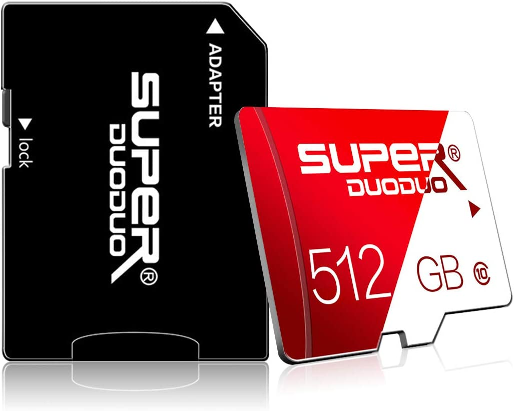Micro SD Card 512GB TF Memory Card 512GB Class 10 SD Memory Card High Speed with Adapter for Camera, Phone, Computer,Dash Came,Tachograph,Tablet,Drone(512gb)