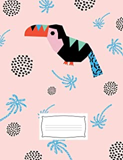 """Toucan Composition Notebook: 7.44"""" x 9.69"""" matte college ruled composition notebook/journal/diary/office notebook, 200 pag..."""