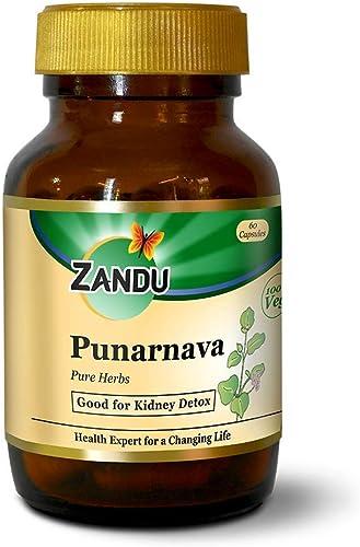 Zandu Punarnava pure herbs for kidney health 60 veg capsules