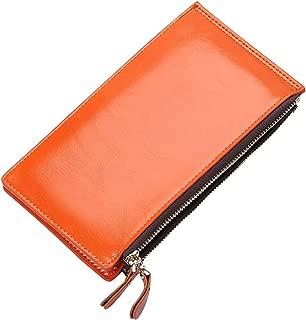 Wiwsi Women Blocking Bifold Multi Card Case Purse Zip Pocket Thin Walllet New