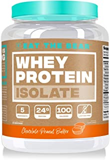 Eat the Bear, Whey Isolate Protein Powder, Keto Friendly Protein Powder, 100 Calories, All Natural, Gluten Free (25 Servings, Chocolate Peanut Butter)