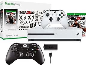 Microsoft Xbox One S 1TB NBA 2K19 Bundle + Wireless Controller Play & Charge Kit | Include:Xbox One S 1TB Console ,NBA 2K19 Full-Game, Wireless Controller ,Controller with Play & Charge Kit
