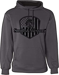 Flag Badge Performance Pullover Hoodie in Granite Grey - Officially Licensed