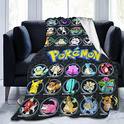 Manta de franela de anime juegos de dibujos animados super suave manta de tiro hogar sofá cama 60x50 pulgadas