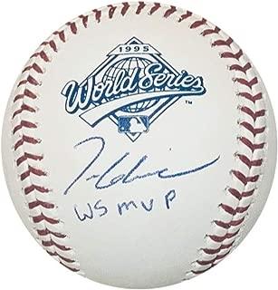 Tom Glavine Atlanta Braves Autographed 1995 World Series MVP Signed Baseball JSA COA With UV Display Case