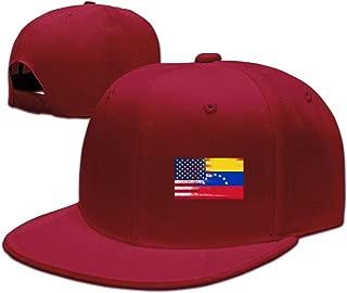 Venezuela Half America Flag Unisex Snapback Flat Bill Baseball Cap