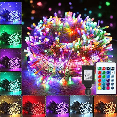 Color Changing Christmas String Lights 66ft 200 LED 16 Colors Led String Lights Outdoor Fairy product image