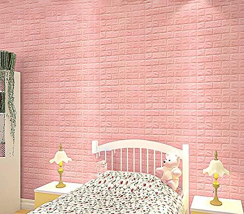 10 Hojas Peel And Stick Wall Azulejos Backsplash Para La Cocina Y Los Azulejos Del Baño Pegatinas De Azulejos Pink3d Stick En El Metro De La Baldosa Metro Subway(Size:40pcs,Color:Thickness: 5mm)