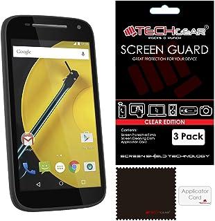 TECHGEAR [3-pack] Skärmskydd för Moto E (2: a generationen/2015 utgåva) - Ultra Clear LCD-skärmskydd skydd skydd kompatibe...