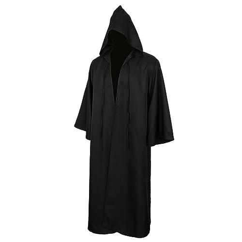 0227a67fec Jila Men   Kids Tunic Hooded Robe Cloak Knight Gothic Fancy Dress Halloween  Masquerade Cosplay Costume