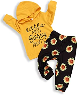 bilison Toddler Baby Girl Clothes Long Sleeve Letter Print Sweatsuit Tops and Floral Pants 2Pcs Winter Outfits Set