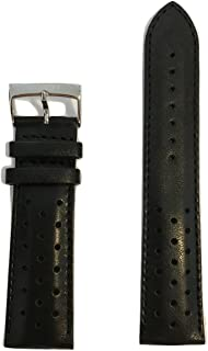 Tissot V8 22mm Black Perforated Leather Strap Band for T361316A, T039417A, T106417A