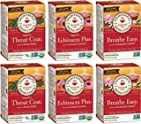Traditional Medicinals Organic Seasonal Care Variety Pack Teas, 16 Tea Bags (Pack of 6)