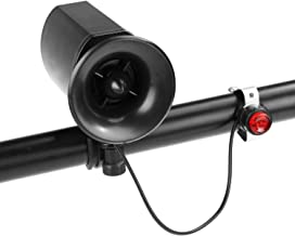 Inditradition Bicycle Siren Horn Bell (6 in 1 Alarm Sounds)   140 DB Sound, Waterproof, with Mounting Bracket (Black)