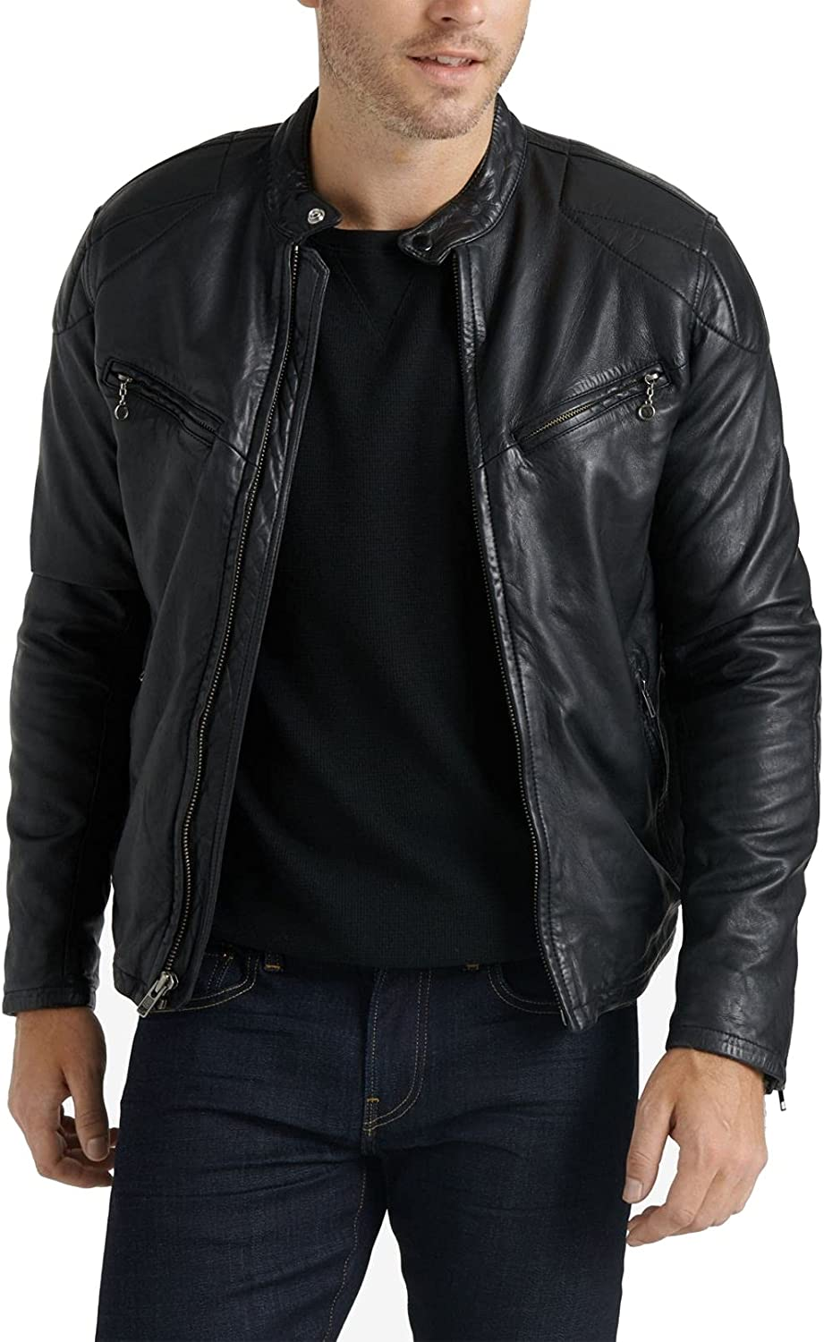 Lucky Brand Men's Vincent Leather Jacket