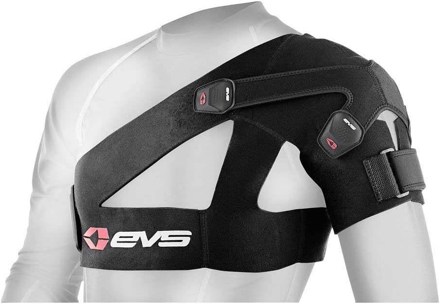 Bombing free shipping Washington Mall EVS Sports Black Shoulder Brace Constr Air Breathable Large Mesh