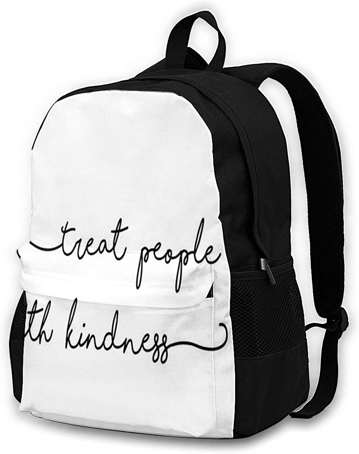 Treat People With Kindness Easy-to-use Deluxe Lightweight Travel Backpack