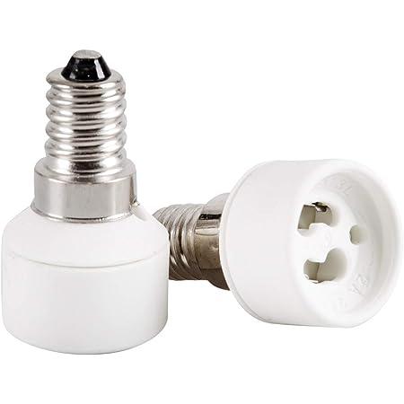 Lunartec Led Adapter Lampensockel Adapter Adapter E14 Auf Gu10 4er Set Adapter Für Led Lampen Beleuchtung