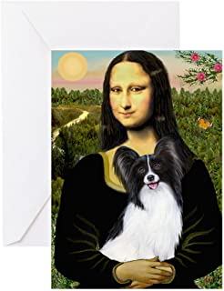 CafePress Mona's Papillon Greeting Card, Note Card, Birthday Card, Blank Inside Matte