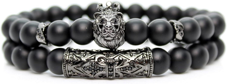 GTHT Men Bracelets Japan's largest assortment Black Stone Handmade Beads Lion Bracelet security Frie