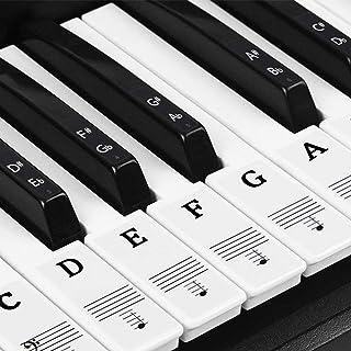 Natuce Autocollants de Piano, pour 37/49/54/61/88 touches de piano, Autocollants de..