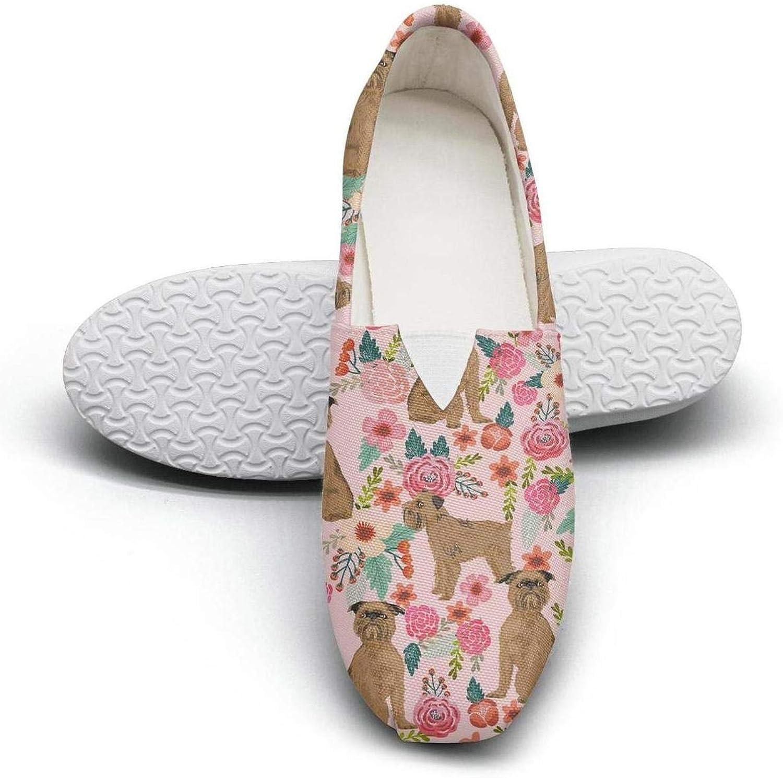 Pink vintage Westie dog Floral Classics Women's Comfort Flat Slip on shoes Ladies Loafer shoes