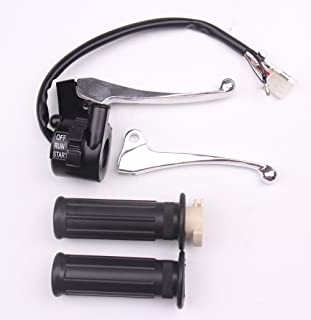 BH-Motor New Twist Throttle Housing Switch Right & Left Brake Lever for Yamaha PW50 PY50 Pit Bike
