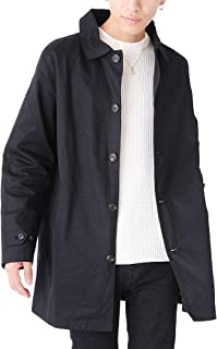 (ベストマート)BestMart カジュアル ビジネス 兼用 ツイル ステンカラー コート メンズ シングル 秋 春 ロング 619319